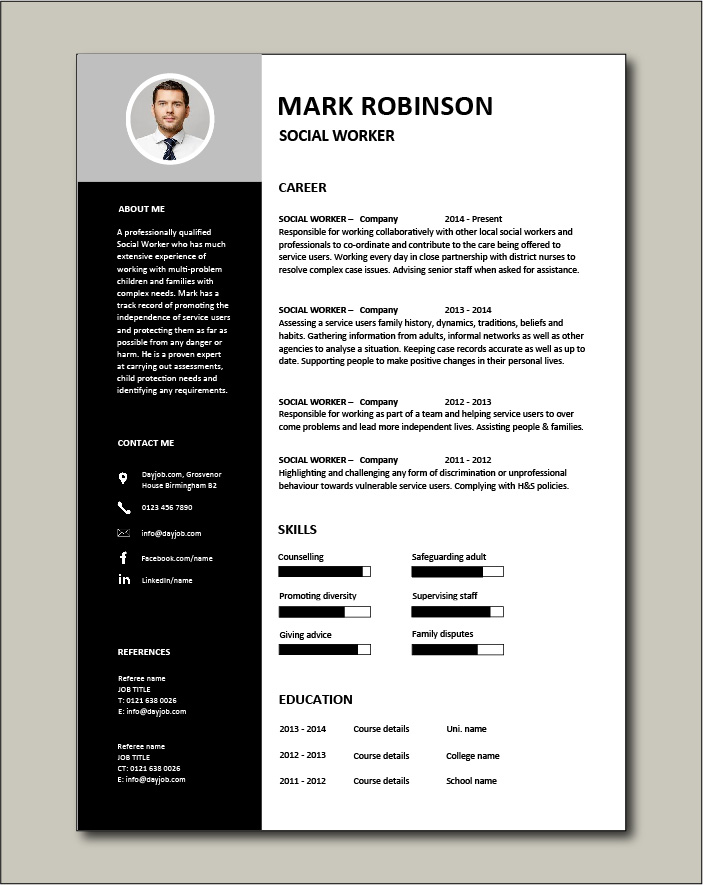 social worker resume template work templates free insight flexible and adaptable sample Resume Social Work Resume Templates Free