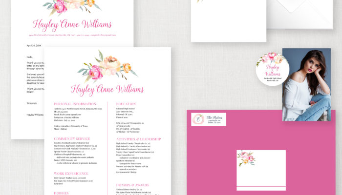 sorority templates recruitment packet best for resume editable template copy 2hayley Resume Best Picture For Sorority Resume