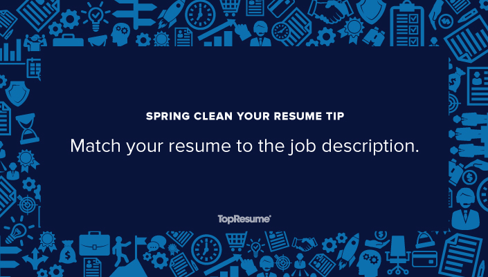 spring clean your resume match to the job description topresume free and linkedin Resume Free Resume And Job Description Match