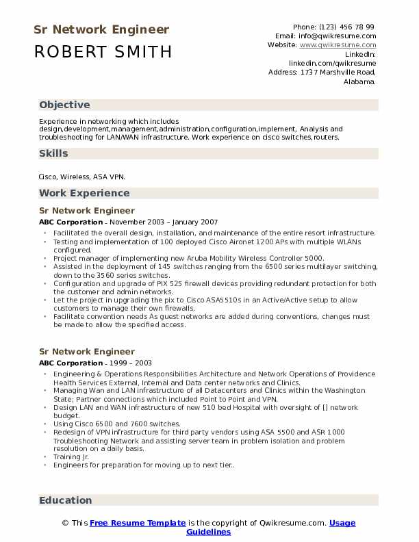 sr network engineer resume samples qwikresume wireless sample pdf examples of summary for Resume Wireless Engineer Resume Sample