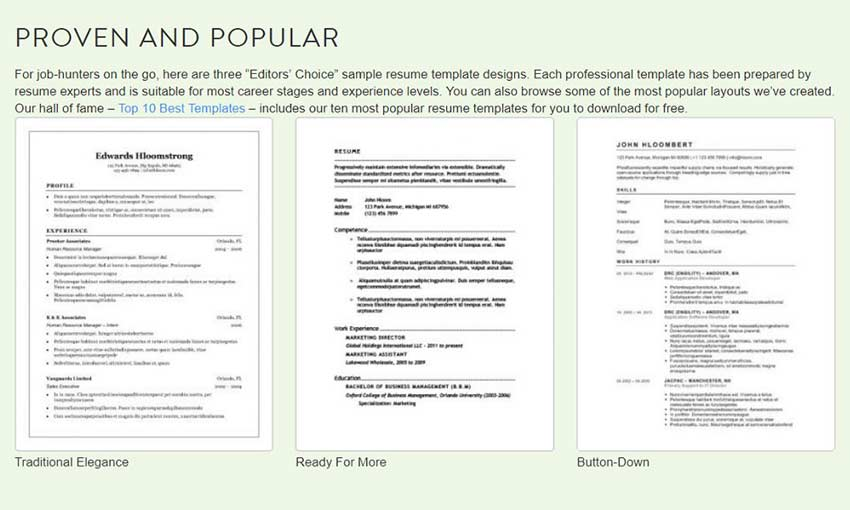 stand out with these free resume templates 1stwebdesigner layouts that hireability parser Resume Resume Layouts That Stand Out