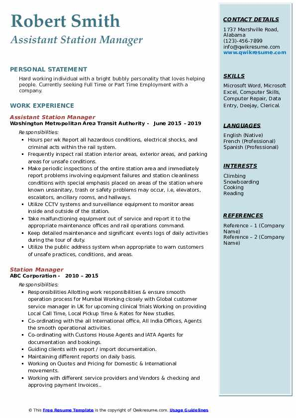 station manager resume samples qwikresume gas assistant pdf litigation attorney executive Resume Gas Station Assistant Manager Resume