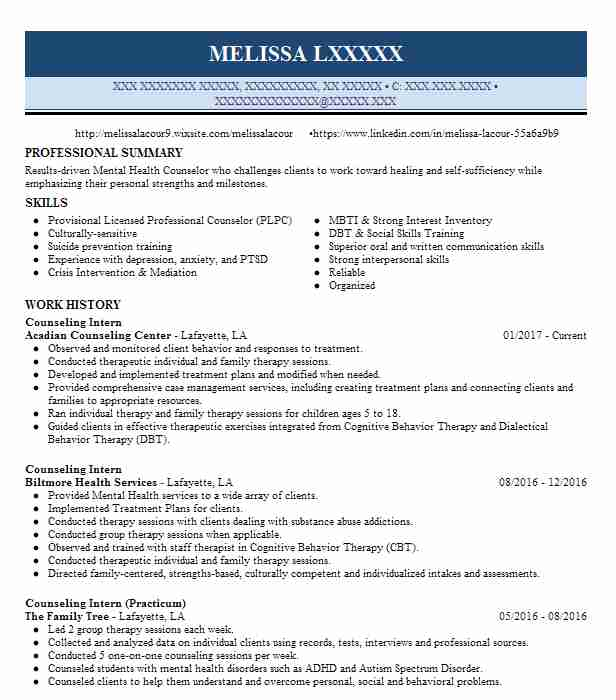 student counseling intern resume example resource center for practicum cna without Resume Resume For Practicum Student Counseling