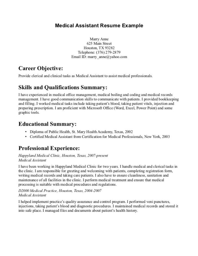 summary of qualifications resume for medical assistant top administrative examples Resume Professional Summary For Resume For Medical Assistant