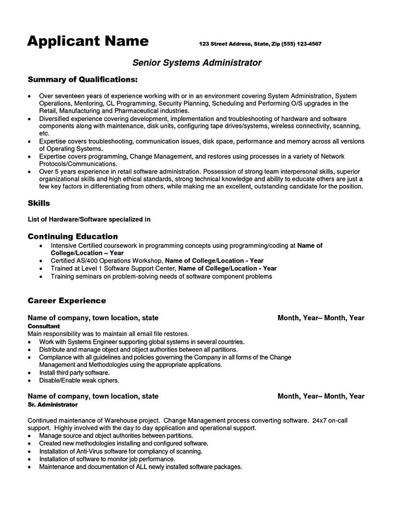 system administrator resume sample and tips to make examples roland garros journee of Resume System Administrator Resume