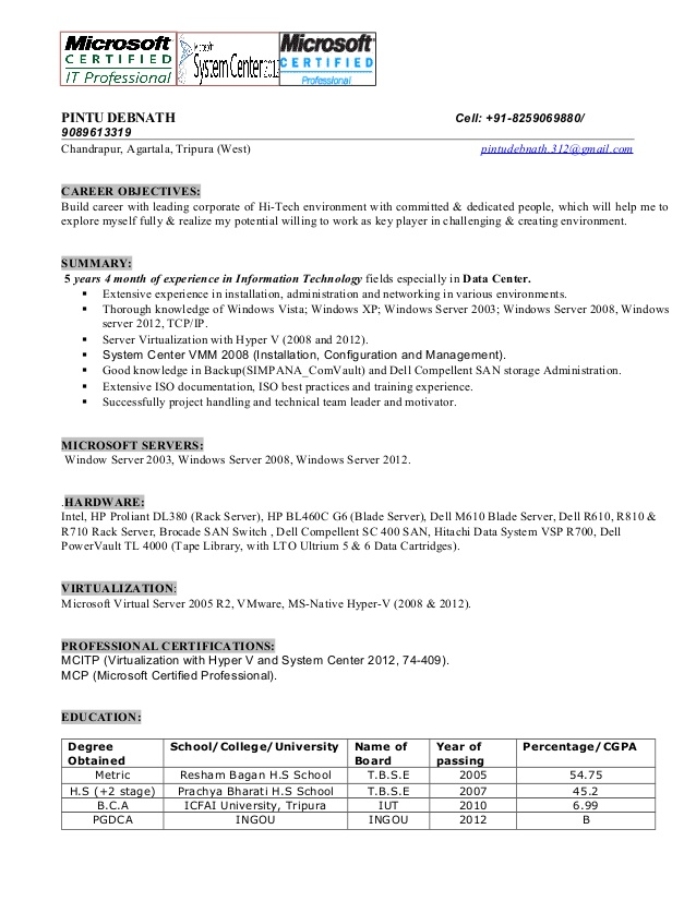 systems administrator resume system template now objective for non specific job stunt Resume System Administrator Resume