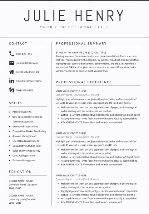 teacher resume sample format templates best resumes for good summary administrative Resume Best Resumes For 2020
