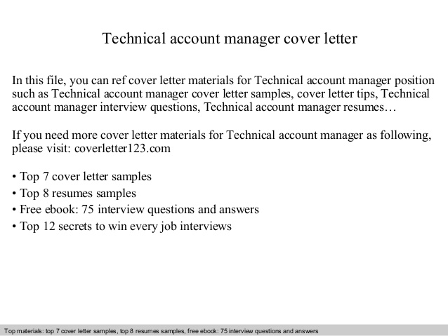 technical account manager cover letter resume sample cleaning job experience cota oracle Resume Technical Account Manager Resume Sample