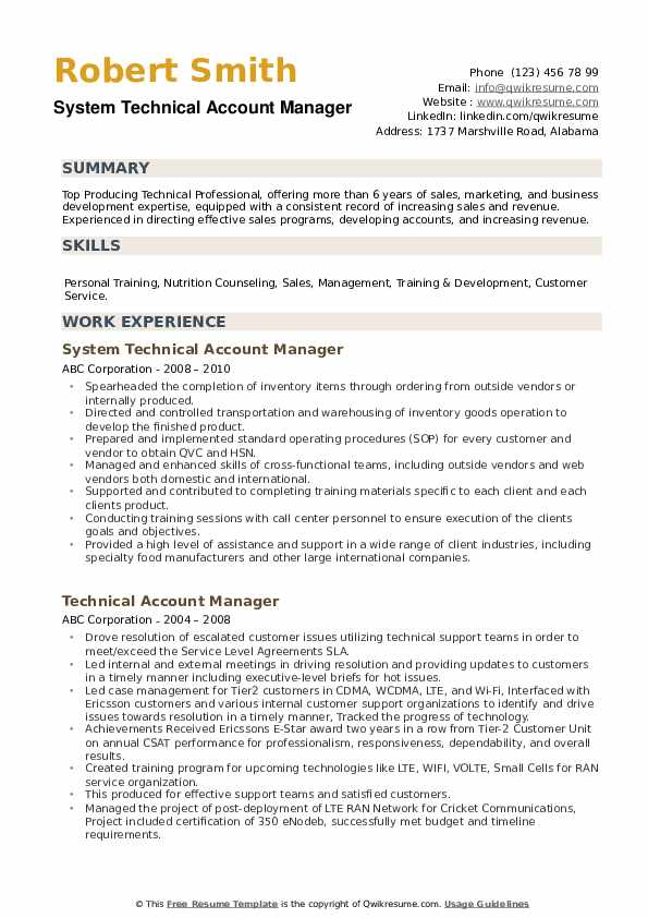 technical account manager resume samples qwikresume sample pdf description of customer Resume Technical Account Manager Resume Sample