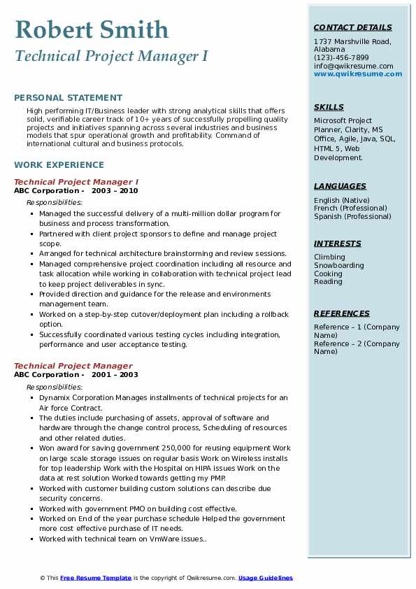 technical project manager resume samples qwikresume people soft pdf auto fill templates Resume People Soft Project Manager Resume