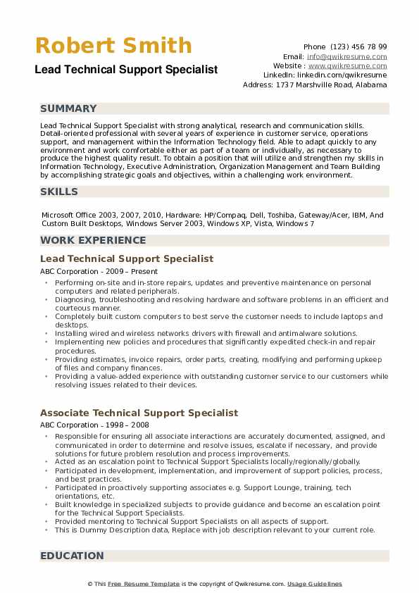 technical support specialist resume samples qwikresume it supports pdf paper vs regular Resume It Supports Specialist Resume