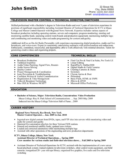 television master controller resume sample template samples m2 professional control Resume Controller Resume Samples