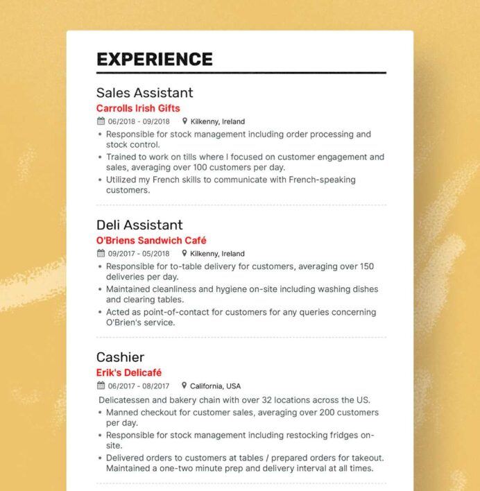 the best fresher resume formats and samples job for fresh graduate hannah experience Resume Job Resume For Fresh Graduate