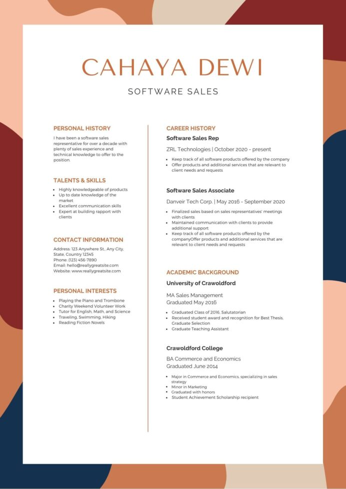the best resume format canva resumes for and black creative modern free templates good Resume Best Resumes For 2020