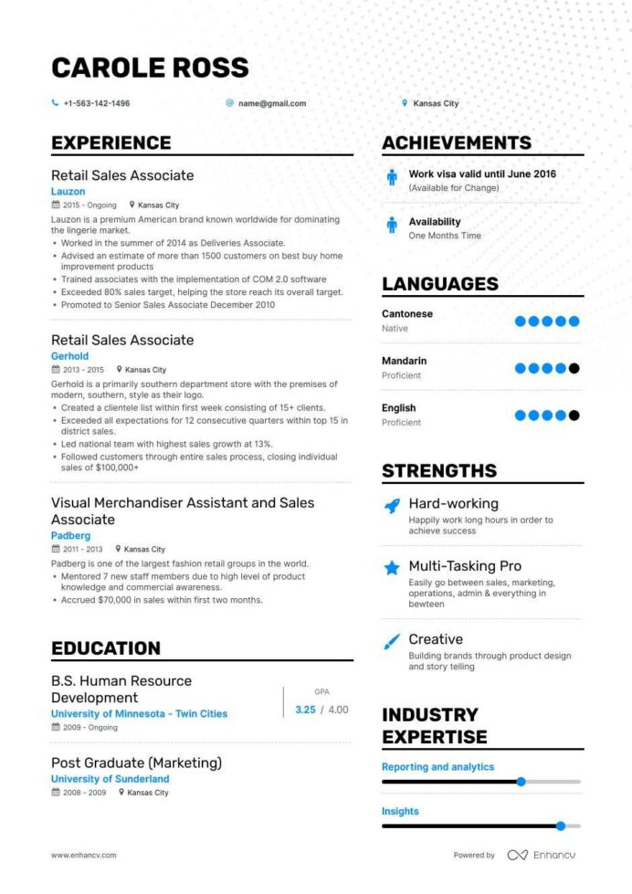 the best retail associate resume examples skills to get you hired teresa healthcare Resume Sales Associate Resume Examples