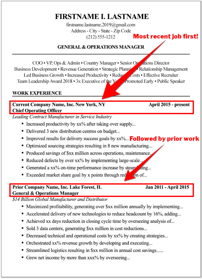 the high score resume format to write for best way most recent jobs operations experience Resume Best Way To Write A Resume 2020