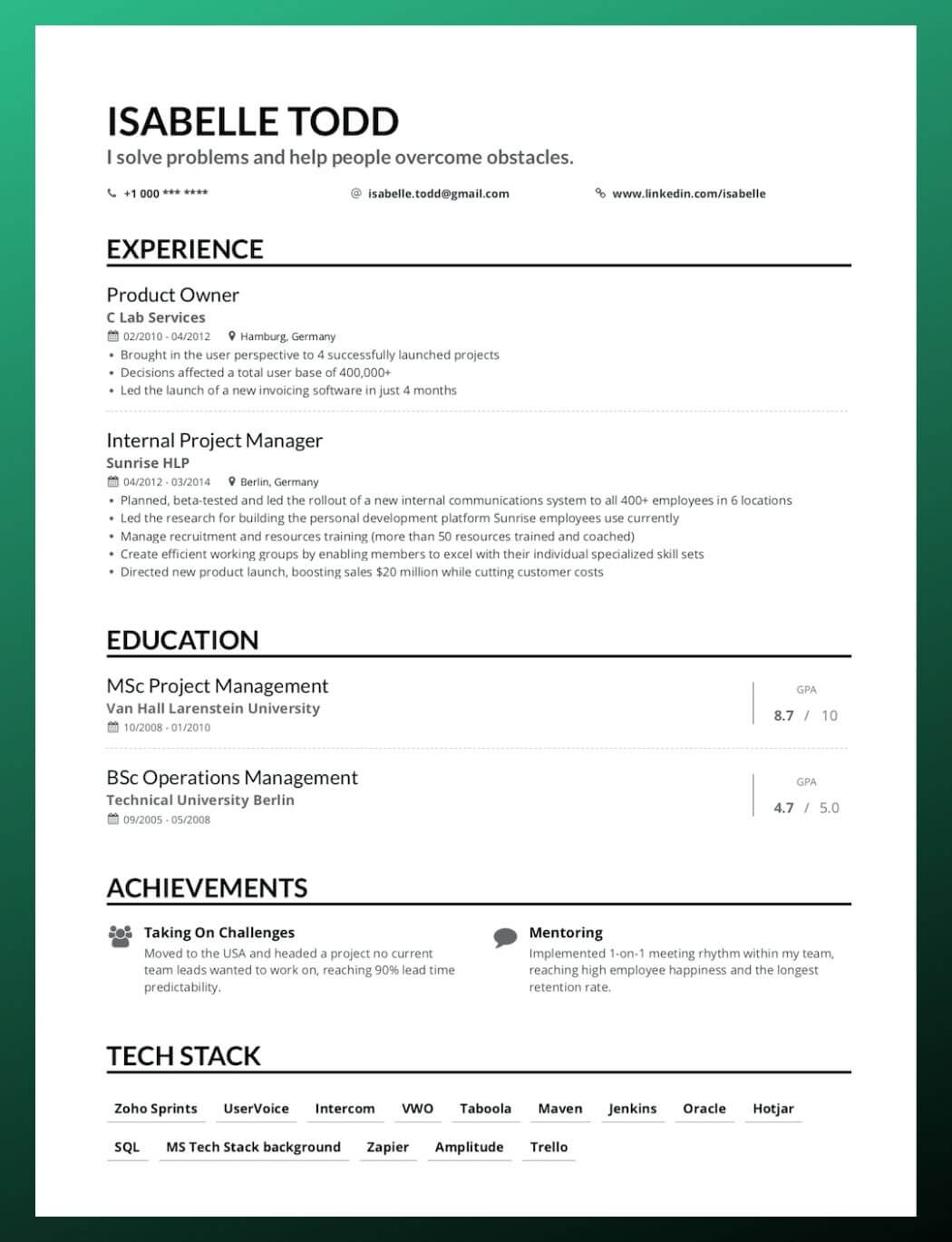 the novice guide to creating plain text resume including templates enhancv template Resume Plain Text Resume Template