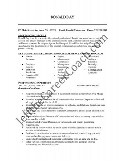 the operations coordinator resume sample two in pdf leasing simple template executive Resume Leasing Coordinator Resume
