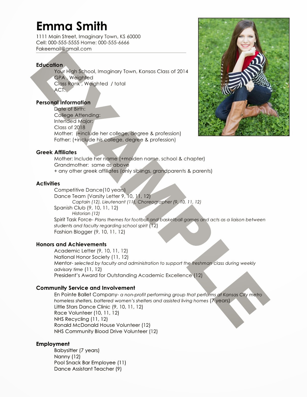 the ultimate guide to sorority recruitment write resume seeking south best for fake Resume Best Picture For Sorority Resume