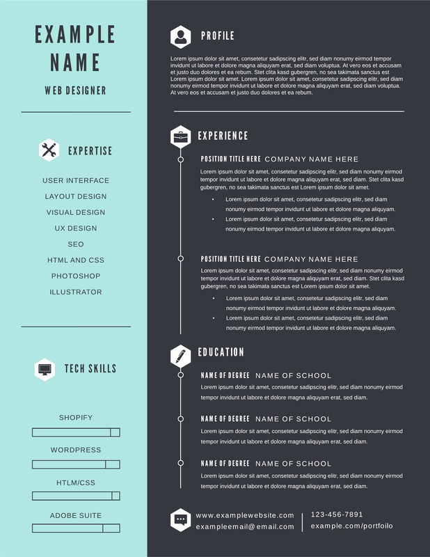 timeline and infographic resume template lucidpress backpacker high school entry level Resume Infographic Resume Timeline
