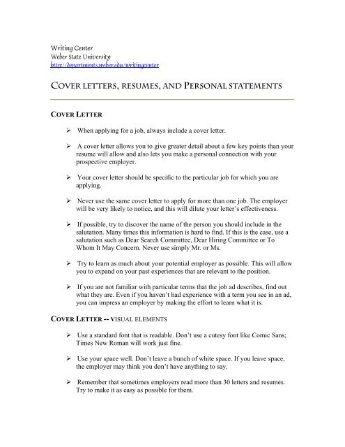 tips for cover letter resume and personal statement effective styles fashion industry Resume Resume Personal Statement
