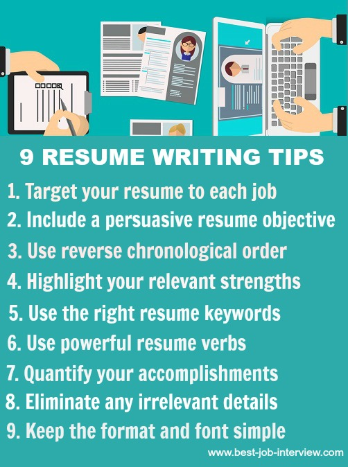 tips on writing resume for great nineresumewritingtips hvac skills best profile headline Resume Tips For Writing A Great Resume