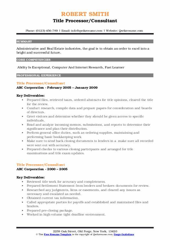 title processor resume samples qwikresume search experience pdf help for executives Resume Title Search Experience Resume