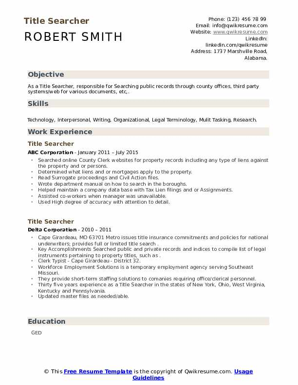 title searcher resume samples qwikresume search experience pdf construction timekeeper Resume Title Search Experience Resume