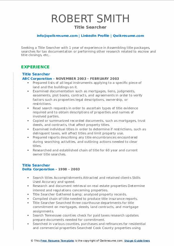 title searcher resume samples qwikresume search experience pdf help for executives Resume Title Search Experience Resume