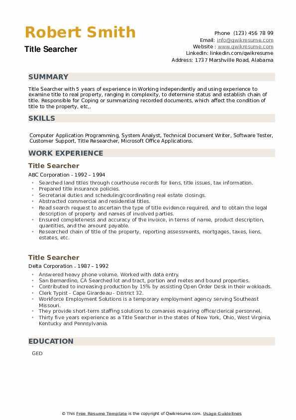 title searcher resume samples qwikresume search experience pdf loan processor accounting Resume Title Search Experience Resume