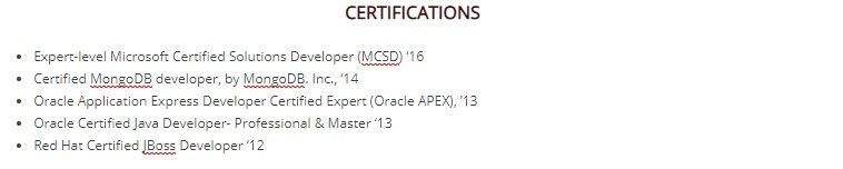 to certification on resume guide with examples put certifications without bolding Resume Where To Put Certifications On Resume