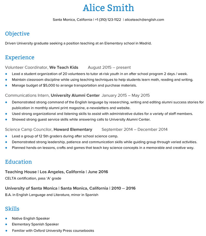 to create an esl teacher resume that get you the job go overseas for teaching position Resume Resume For Teaching Position