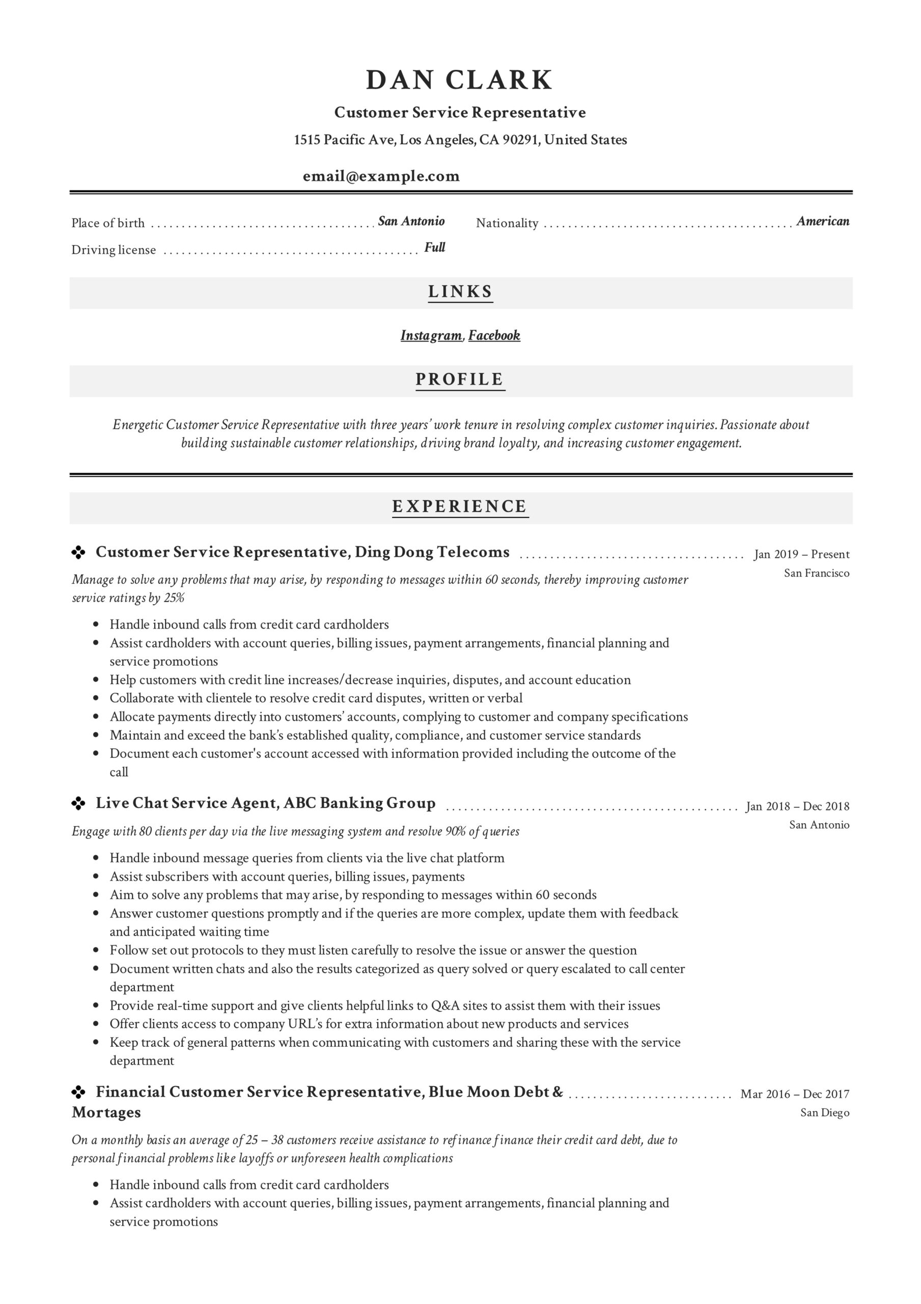 to customer service representative resume pdf samples for position financial analyst Resume Resume For Customer Service Position
