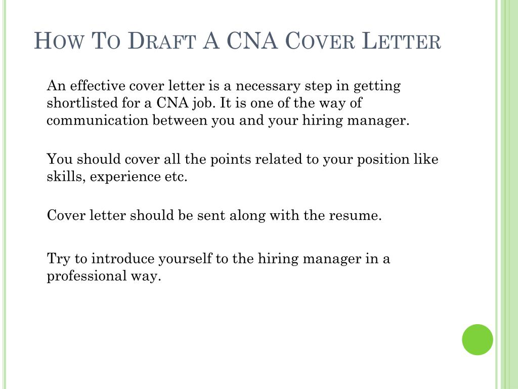 to draft cna cover letter powerpoint presentation free id resume construction job Resume Cna Resume Cover Letter