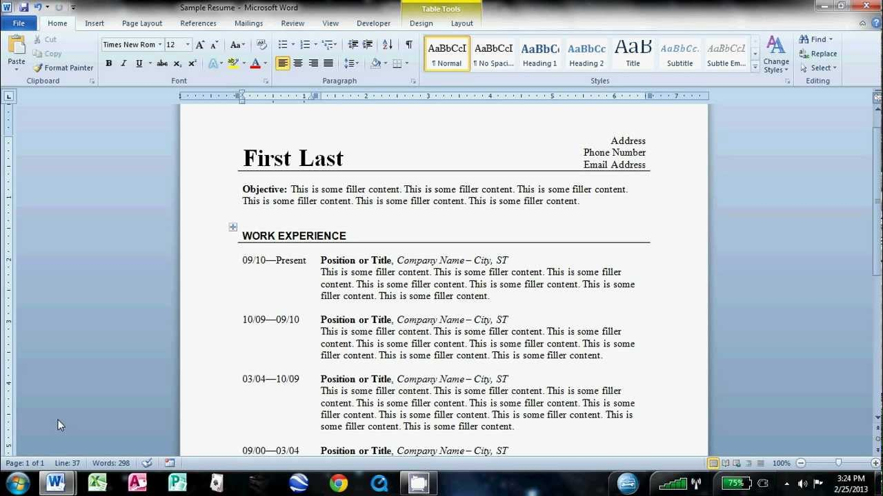 to make an easy resume in microsoft word create on another for customer service Resume Create Resume On Microsoft Word