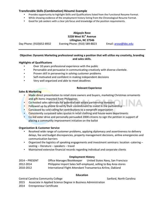 to write combination resume format examples included hloom sample mdaa and marketing Resume Combination Resume Sample