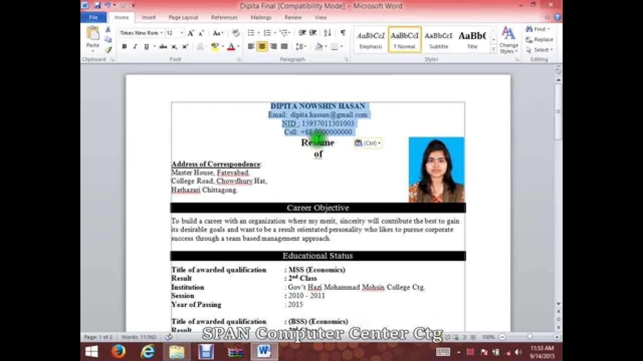 to write cv resume with microsoft word hd template writing create on construction cleaner Resume Create Resume On Microsoft Word