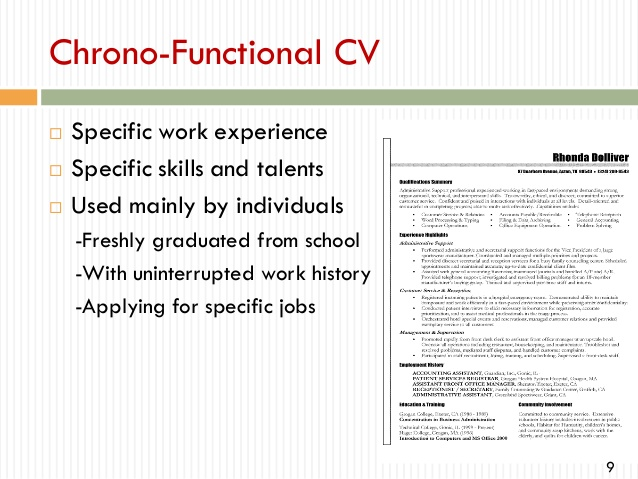 to write professional cv chrono functional resume training and development keywords Resume Chrono Functional Resume