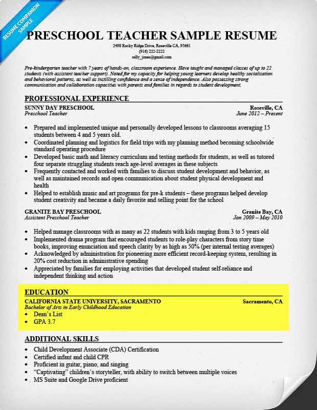 to write resume for all types of jobs companion put certifications on education section Resume Where To Put Certifications On Resume