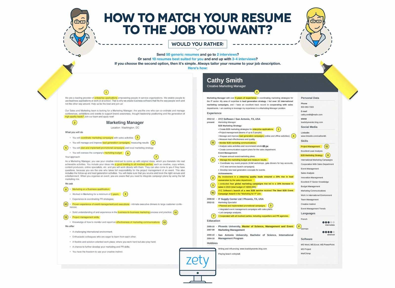 to write resume for job professional writing guide ways make your better and tailor it Resume Ways To Make Your Resume Better