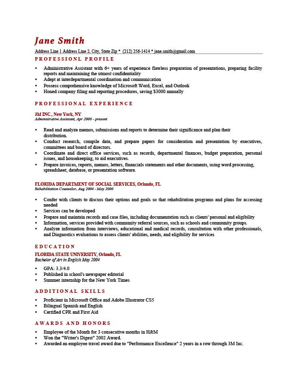 to write resume profile examples writing guide rg for students brick red template front Resume Resume Profile Examples For Students