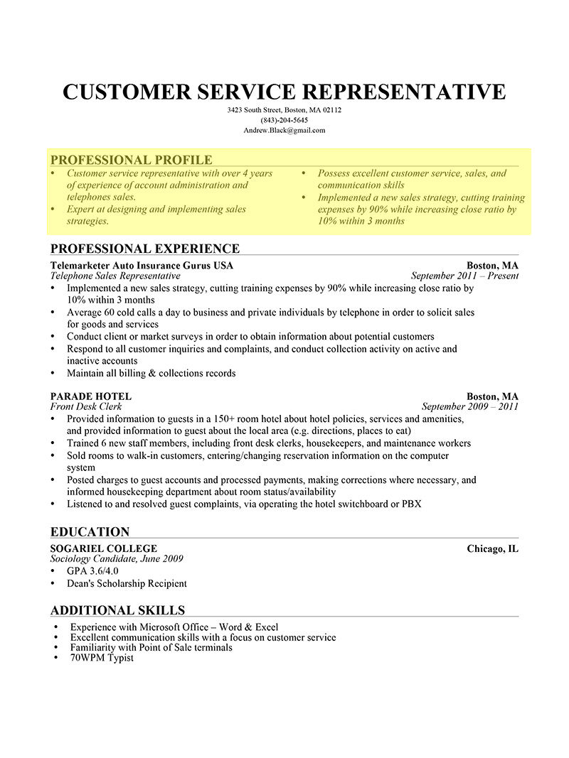 to write resume profile examples writing guide rg professional bullet form1 clerical Resume Writing A Professional Resume