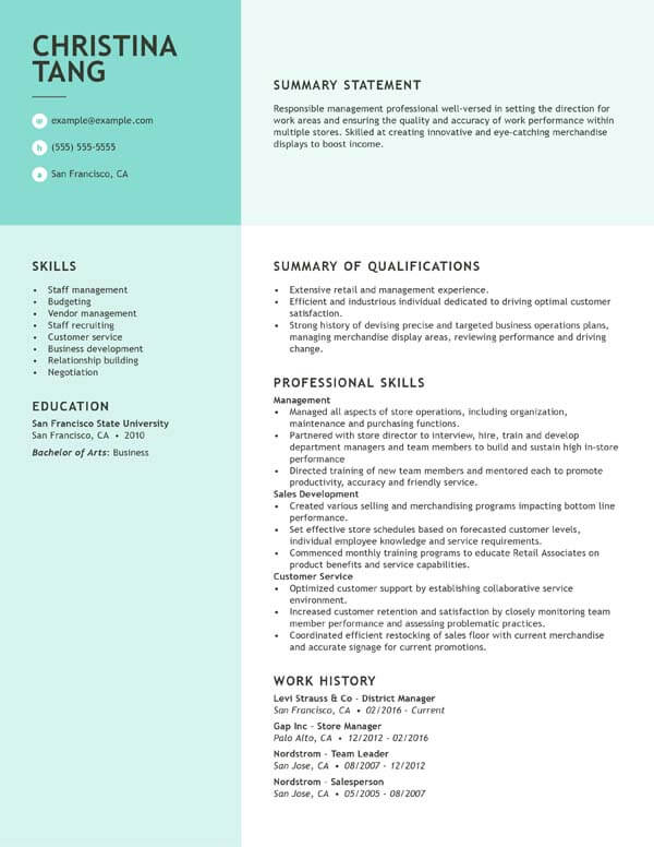 to write resume writing livecareer creating strong functional district manager 3formats Resume Creating A Strong Resume