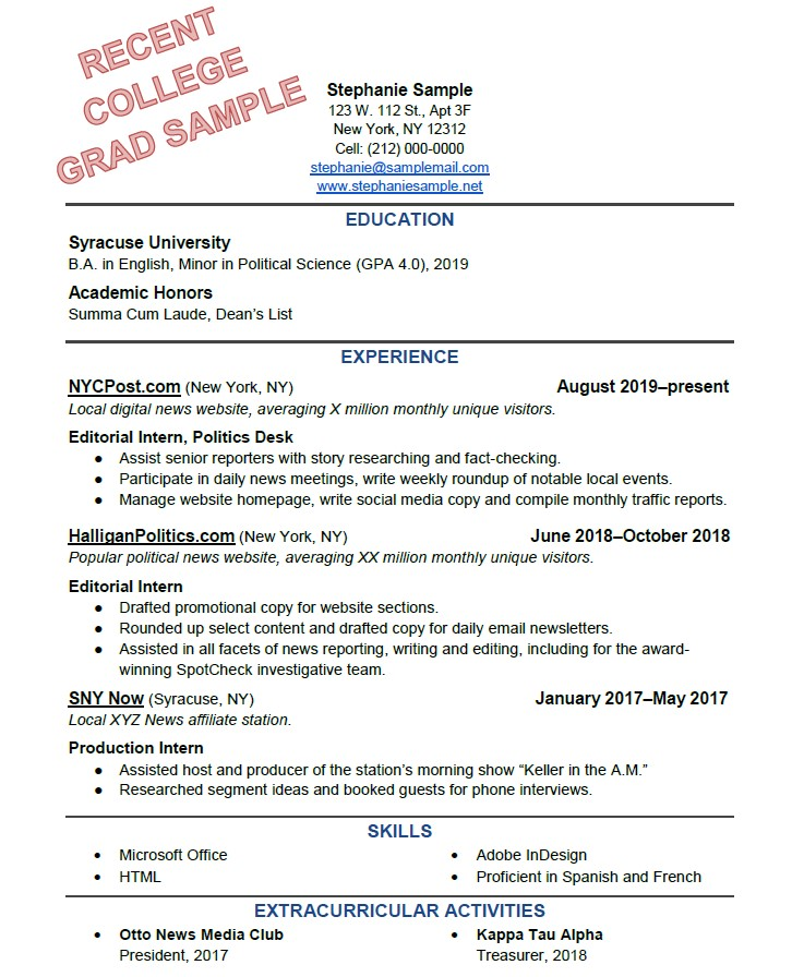 to write the perfect resume based on your years of experience hobbies extracurricular Resume Hobbies Extracurricular Activities Resume