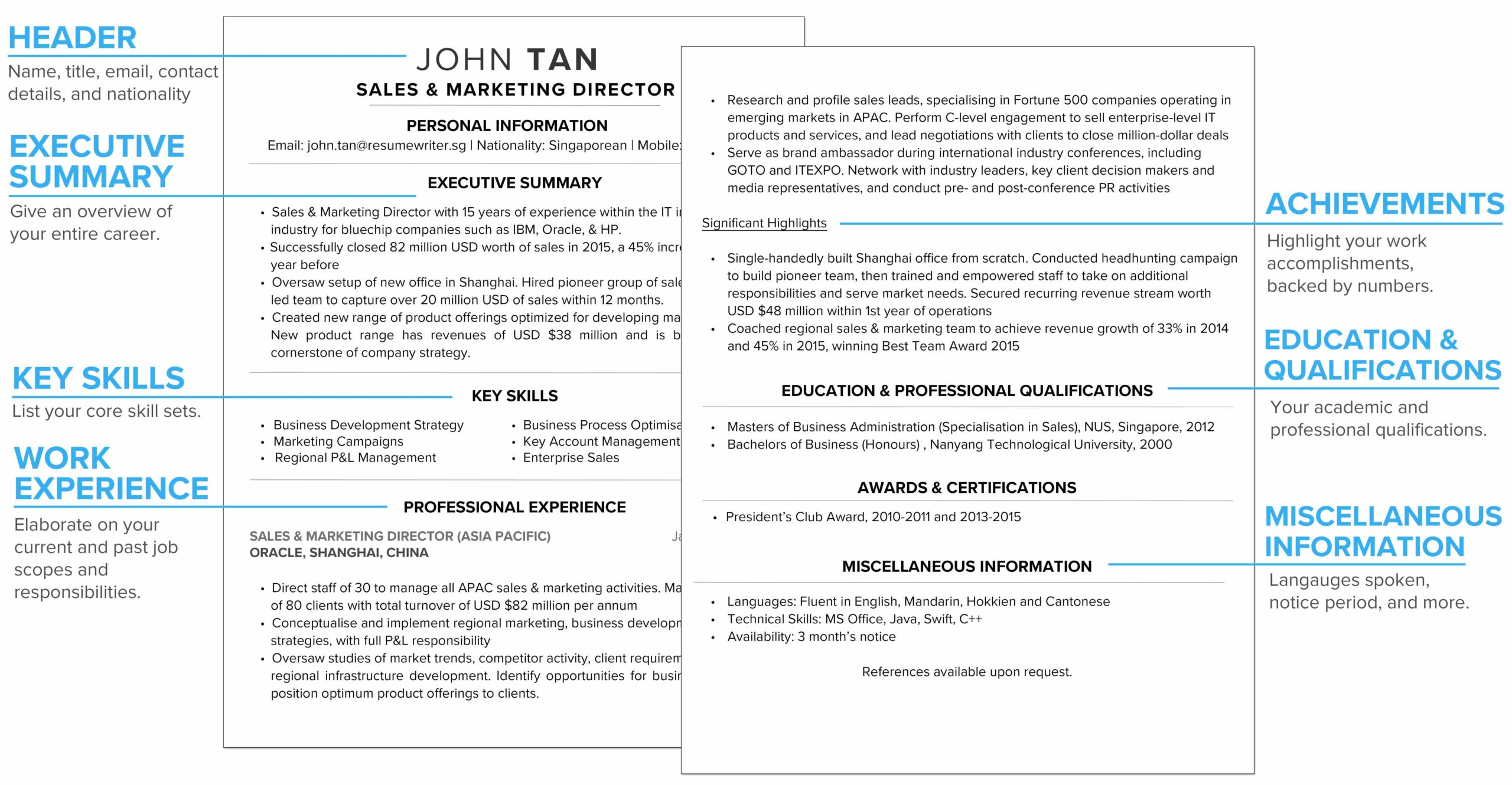 to write winning resume in your ultimate cv guide compare job description and annotated Resume Compare Job Description And Resume