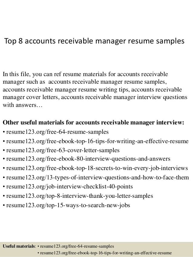 top accounts receivable manager resume samples supervisor pharmacy technician job Resume Accounts Receivable Supervisor Resume