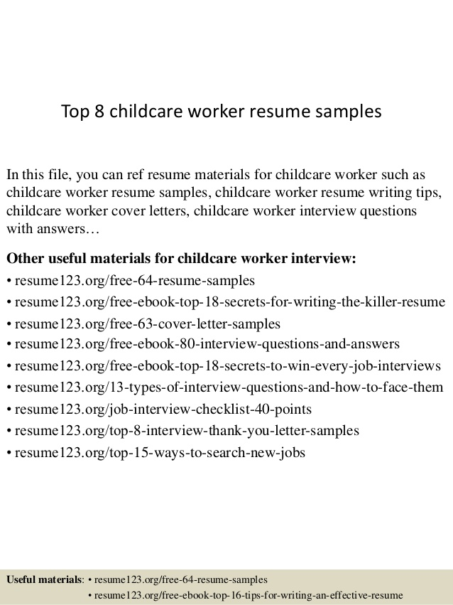 top childcare worker resume samples child care content writer finance student sample Resume Child Care Worker Resume