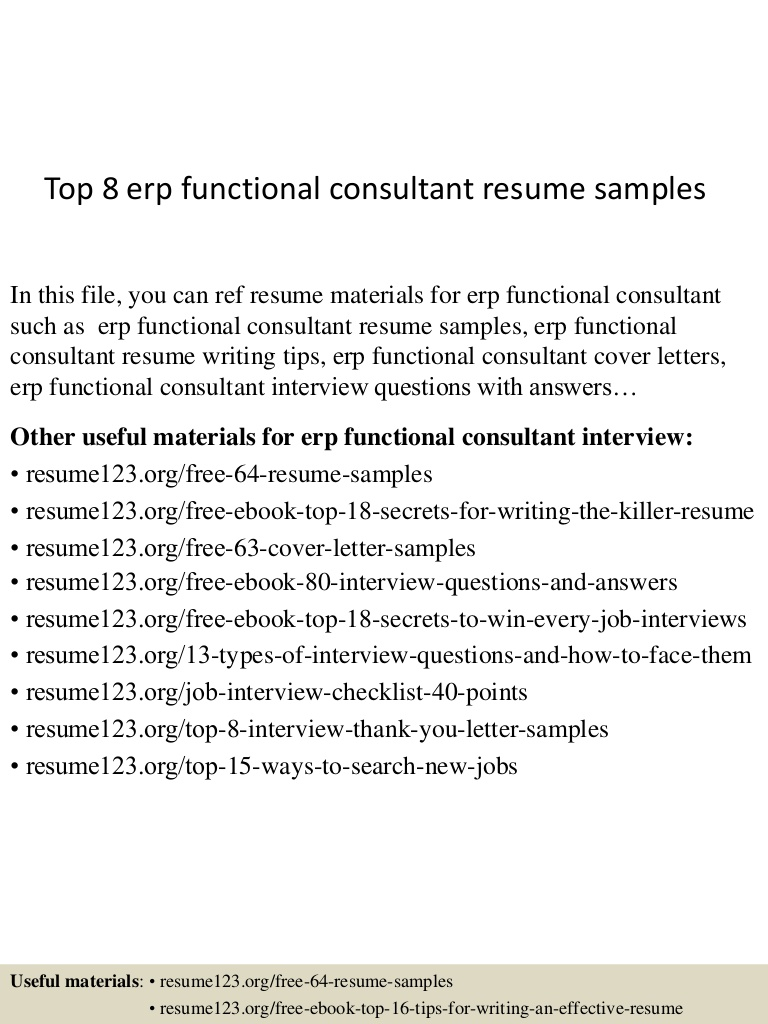 top erp functional consultant resume samples implementation format Resume Erp Implementation Consultant Resume Format