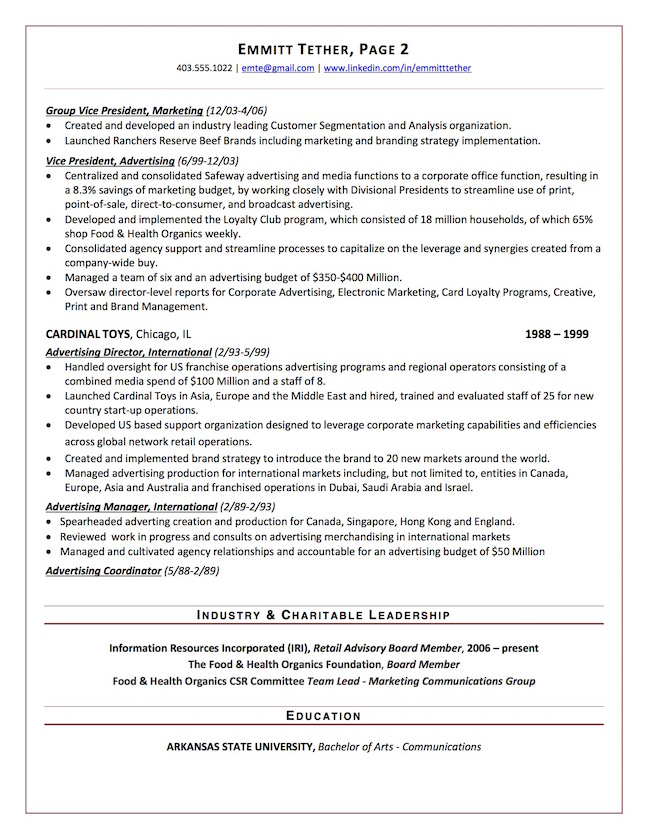 top executive resume writing examples senior level for board position sample chief Resume Resume For Board Position Sample