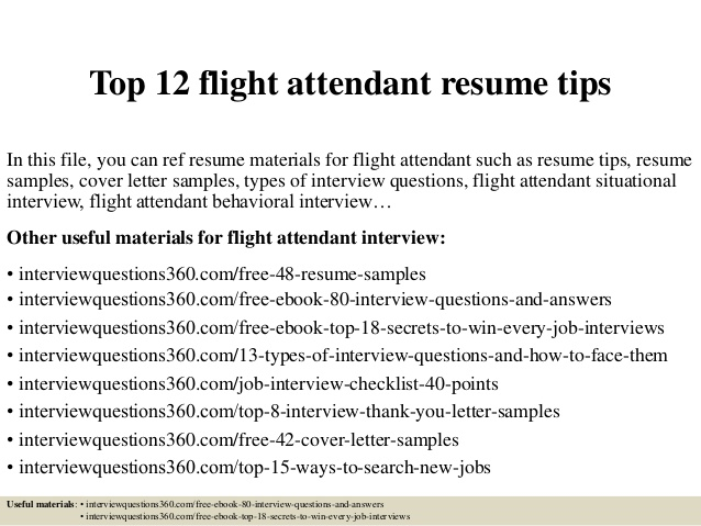 top flight attendant resume tips examples monster service review format update services Resume Flight Attendant Resume Examples